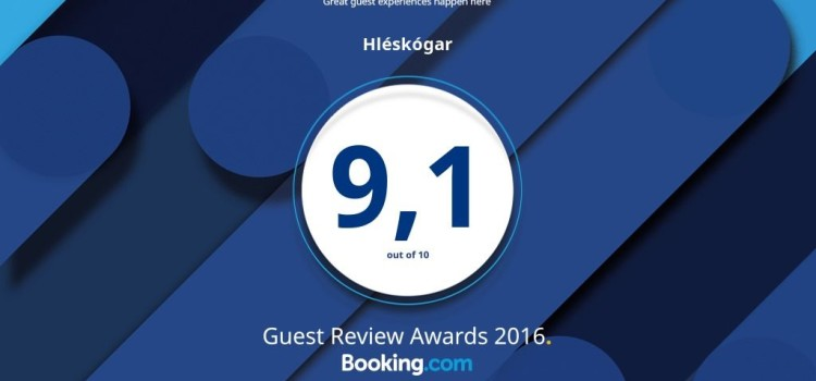 Guest review 9,1 at Booking.com
